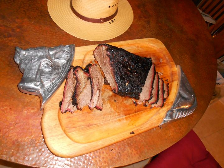 Hat's off to a fine brisket!